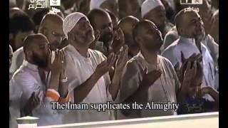 الشيخ بندر بليلة يبكي المصلين في دعاء مؤثر مبكي صلاة القيام والتهجد بالحرم المكي ليلة 26 رمضان 1434