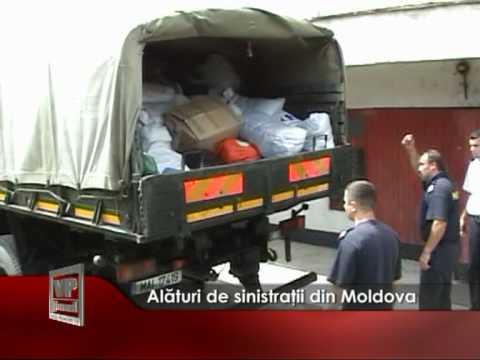 Alături de sinistrații din Moldova