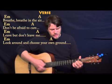 Breathe (Pink Floyd) Strum Guitar Cover Lesson with Chords/Lyrics
