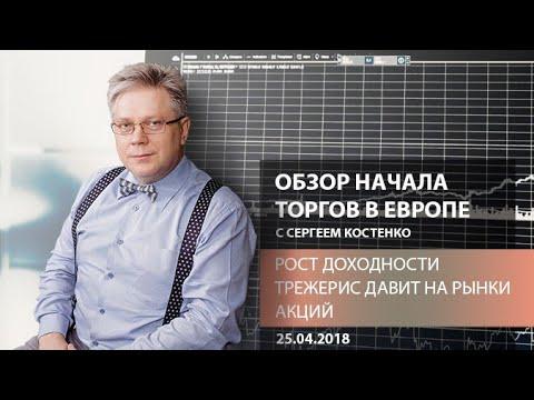 Аналитика рынка: Рост доходности трежерис давит на рынки акций - Обзор открытия европейской сессии - DomaVideo.Ru