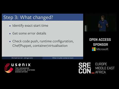 SREcon17 Europe/Middle East/Africa - When Trouble Comes to Town