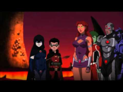 Justice League vs Teen Titans Robin & Raven Its Not Your Home