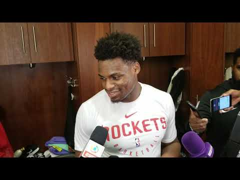 Danuel House after Rockets win over Blazers