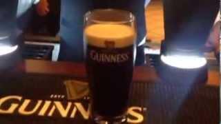 ギネスビールの正しい注ぎ方