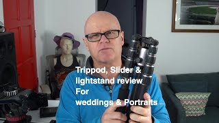 Tripods and lightstands for wedding and portraitsBuy Miller Tripod system belowhttp://amzn.to/2skg6H4Buy Mefoto  belowhttp://amzn.to/2tW6VhXBuy Benro monopod belowhttp://amzn.to/2skwPKjBuy Manfrotto monopod belowhttp://amzn.to/2s0f1odBuy Manfrotto video headhttp://amzn.to/2tmPom2manfrotto 1052bac Stacker stands you need 2http://amzn.to/2tmXgDQOrder Sony a9 Belowhttp://amzn.to/2qRMMLWOrder Sony a7RII Belowhttp://amzn.to/2ovfXmXOrder Sony A7II Belowhttp://amzn.to/2oKPazgOrder Sony a6500 Belowhttp://amzn.to/2p01QViThe gear I usehttps://kit.com/doastler/youtube-filmmakerFacebookhttps://www.facebook.com/oastlerimages/instagramhttps://www.instagram.com/doastler/Twitterhttps://twitter.com/doastler500pxhttps://500px.com/davidoastler/galleries slider tripod review