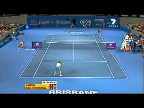 Kvitova vs Pavlyuchenkova en Brisbane 2011