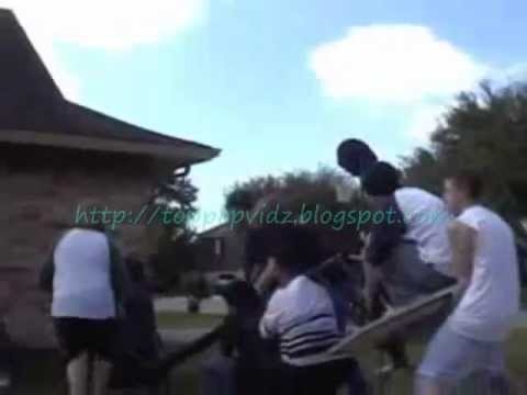 Funny Basketball Stunts -- Boy Through Hoop & More
