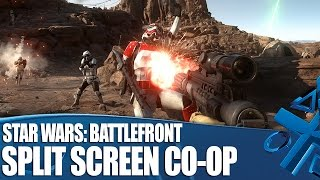 Star Wars: Battlefront - PS4 split screen gameplay