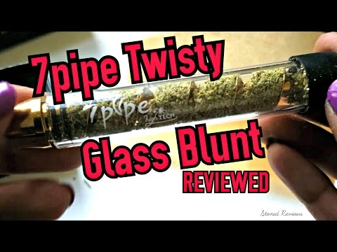 7pipe Twisty Glass Blunt Review (видео)