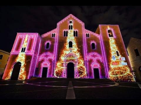 Videomapping natalizio sulla Basilica di San Nicola