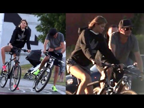 Wojewódzki z narzeczoną na rowerowej przejażdżce