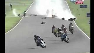European GP Motor Superstock Crash - Moto GP Europa acidente Superstock