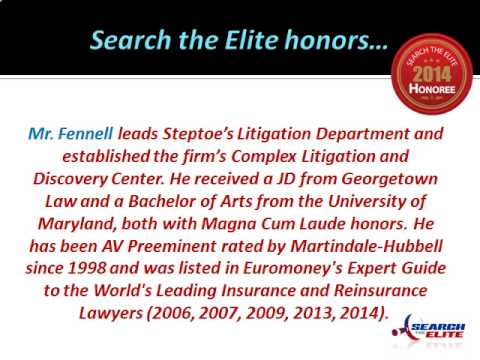 Stephen A. Fennell Named a Top Civil Litigation Attorney in the D.C. Metro Area