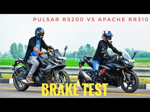BRAKE TEST OF PULSAR RS200 AND APACHE RR310