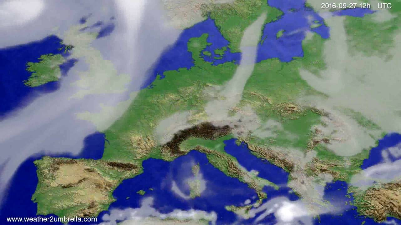 Cloud forecast Europe 2016-09-23