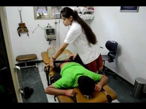 lumbar traction technique - vikalp physiotherapy clinic noida
