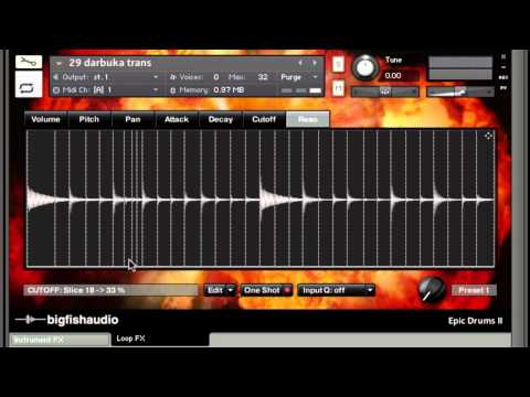 Big Fish Audio Custom Kontakt Loop Interface