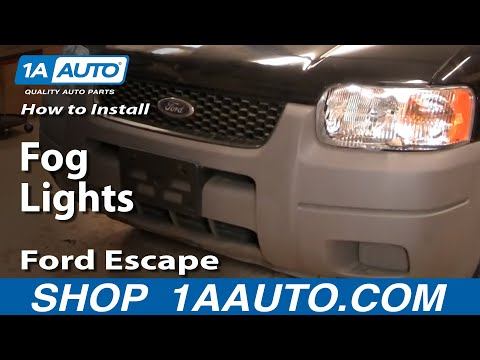 How To Install Replace Fog Lights Ford Escape 01-04 1AAuto.com
