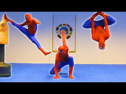 KICKS - Spiderman Training Flips, Kicks, punches and Crazy Attacks. Also, some on the BOB (Body Opponent Bag). I hope you like it :) Please Like, Comment and Subscri...