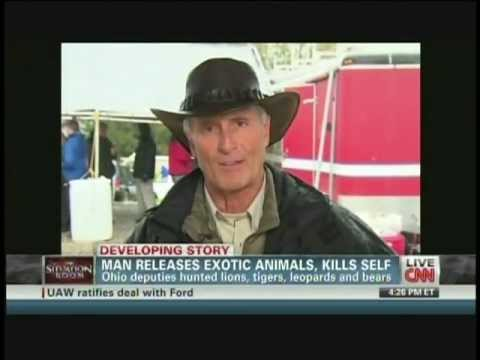 Jack Hanna on exotic animal escape and slaughter from Ohio preserve (October 19, 2011)
