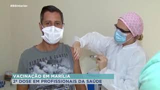 Profissionais da saúde de Marília recebem segunda dose contra Covid-19