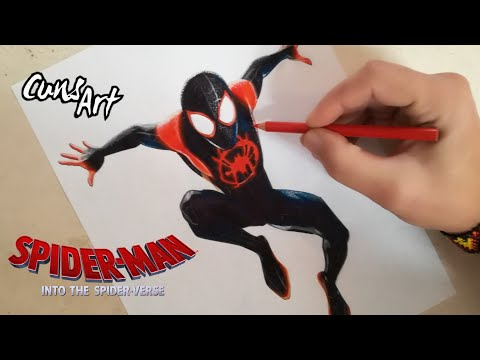COMO DIBUJAR A SPIDERMAN / UN NUEVO UNIVERSO / MILES MORALES / How To Draw Spiderman