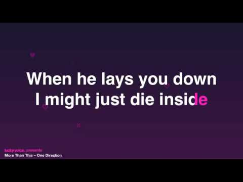 I Can Love You More Than This (Karaoke Version) - One Direction