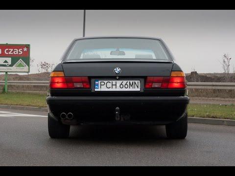 BMW E32 exhaust sounds