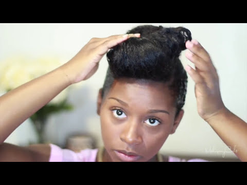 SheaMoisture Curling Gel Souffle Up-do Tutorial