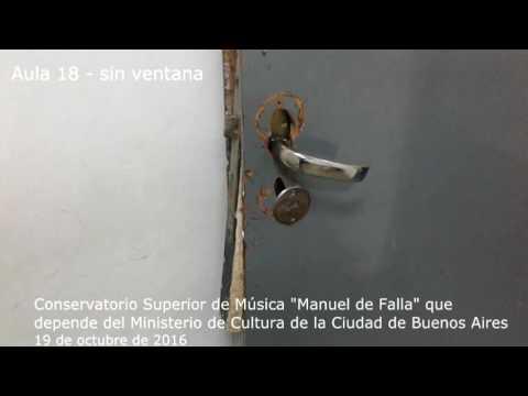 Estado crítico del edificio donde funciona el Conservatorio Manuel de Falla - 19 de octubre de 2016 (видео)