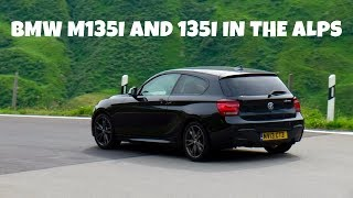Friendly little blast between the Baby BMWs on the 2016 Alpine Run.  135i is a 6 speed manual, M135i is 8 speed auto.