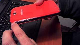 Samsung has released several fun color cases for the Galaxy Note II and part of those is the Orange Flip Case. Samsung does have a set of four different colo...