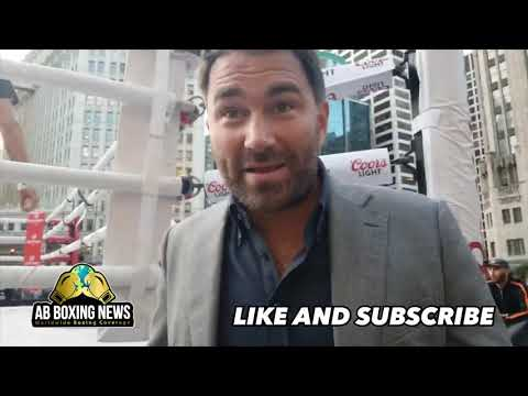 "Eddie Hearn"" Tyson Fury great for WWE,Hints Rosado vs Jacobs, GGG,Usyk/Wilder!"