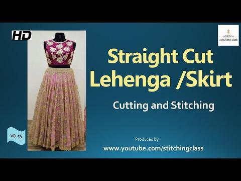 Video Straight Cut Lehenga Cutting and Stitching   Skirt   download in MP3, 3GP, MP4, WEBM, AVI, FLV January 2017