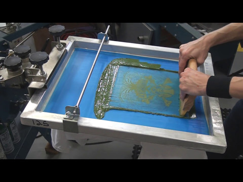 3. How To Screen Print Tee Shirts: Setting Up 2 Color Job On Press