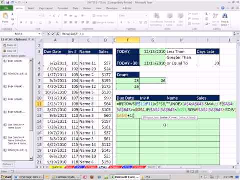 Excel day of week from date in Hamilton