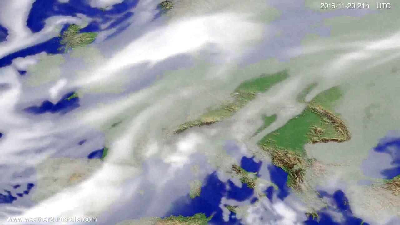 Cloud forecast Europe 2016-11-17