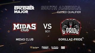 Midas Club vs Gorillaz-Pride, EPICENTER Major 2019 SA Closed Quals , bo1 [Eiritel]