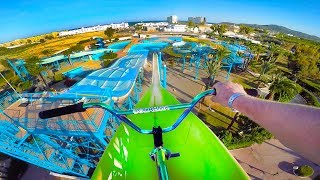 Video BMX RIDING AT INSANE ABANDONED WATERPARK IBIZA! MP3, 3GP, MP4, WEBM, AVI, FLV Agustus 2017