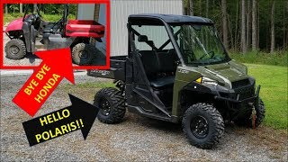 6. New Polaris Ranger XP900! Walk around and trade in for Honda Big Red 700