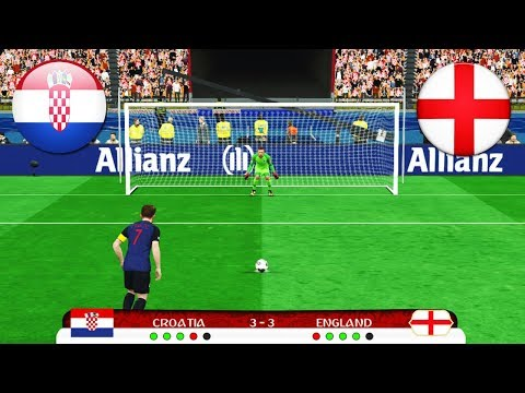 PES | CROATIA vs ENGLAND Penalty Shootout World Cup 2018 | Gameplay PC