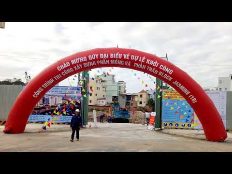 Cho thuê nhà bạt tổ chức Lễ khởi công xây dựng móng và thân công trình Block Jasmine