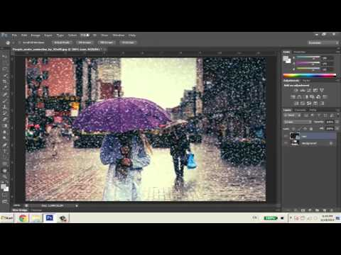 Hiệu ứng mưa rơi - Photoshop CS6