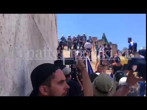 Σύνταγμα: Μικροένταση στο συλλαλητήριο για τη Μακεδονία