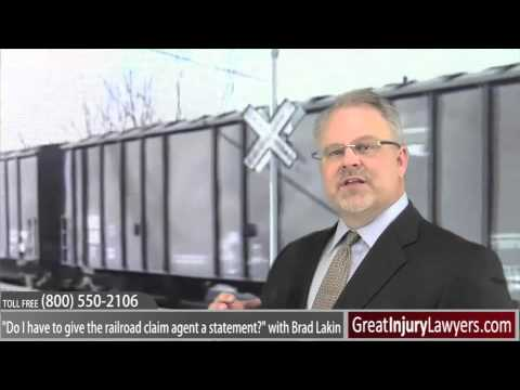 Railroad Injury Case Railroad Injury Lawyer Brad Lakin on Are you Required to Talk to claim agent