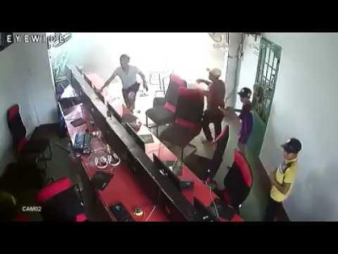 Tai nạn kinh hoàng tại tại tiệm Net