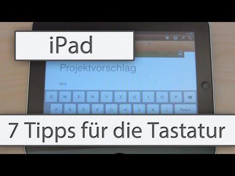Tipp: 7 iPad Tastatur Tipps