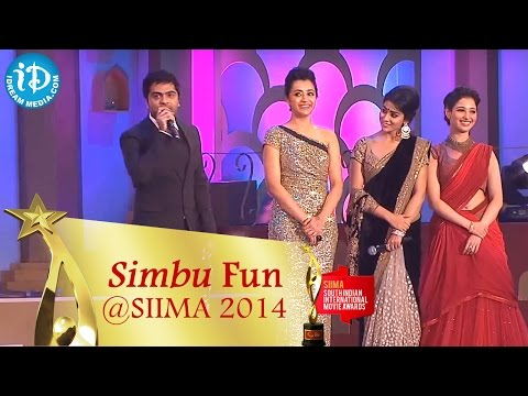 Shimbu Makes Funny Comments on Trisha, Shriya, Tamannah || SIIMA 2014