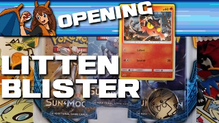 LAST PACK MAGIC - Opening a Sun and Moon Litten Pokemon Card Three-Pack Blister! by Flammable Lizard