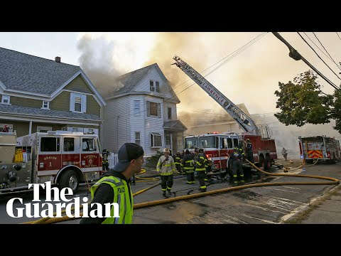 Boston explosions: homes burn after multiple gas blasts